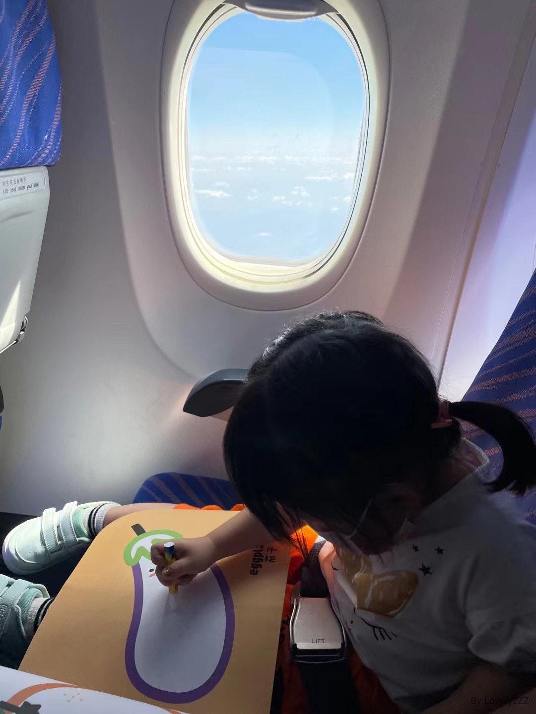 飞机上画画的mia